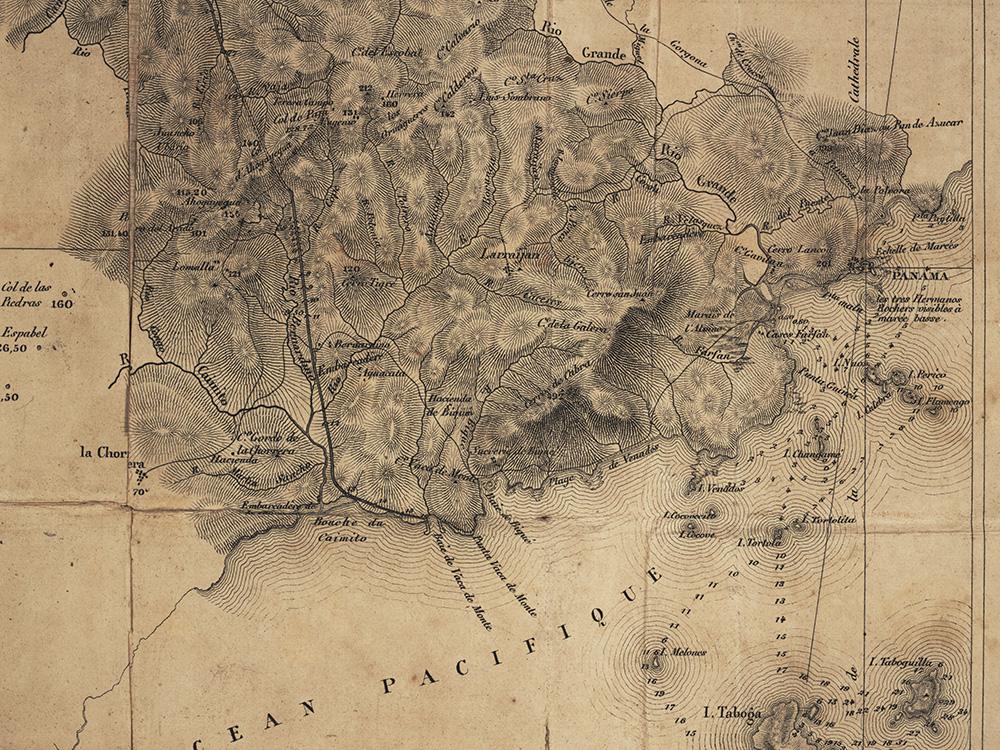 Detail of Napolon Garellau0027s mid century proposal for